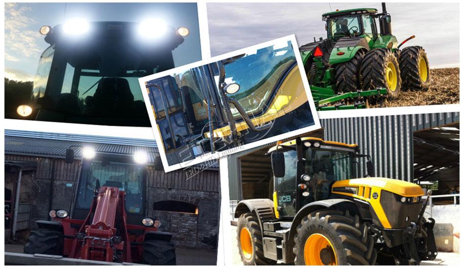 Купить с кэшбэком 20pc 24W 8 LED work light tractor light led lamp Car accessories for trucks car auto Uaz van tractor Rostselmash mtw belarus