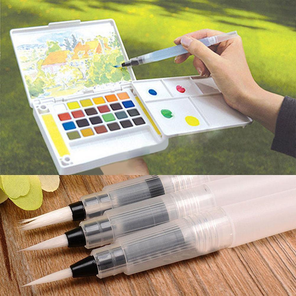 6Pcs//set Refillable Whate Brush Marker Painting Calligraphy Watercolor Pens Gift