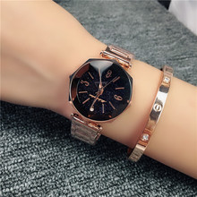 Hot Sale 5-colors Korea Delicate Star Sky Quartz Watch for Women Simple Fashion Top Quality Waterproof Steel Strap