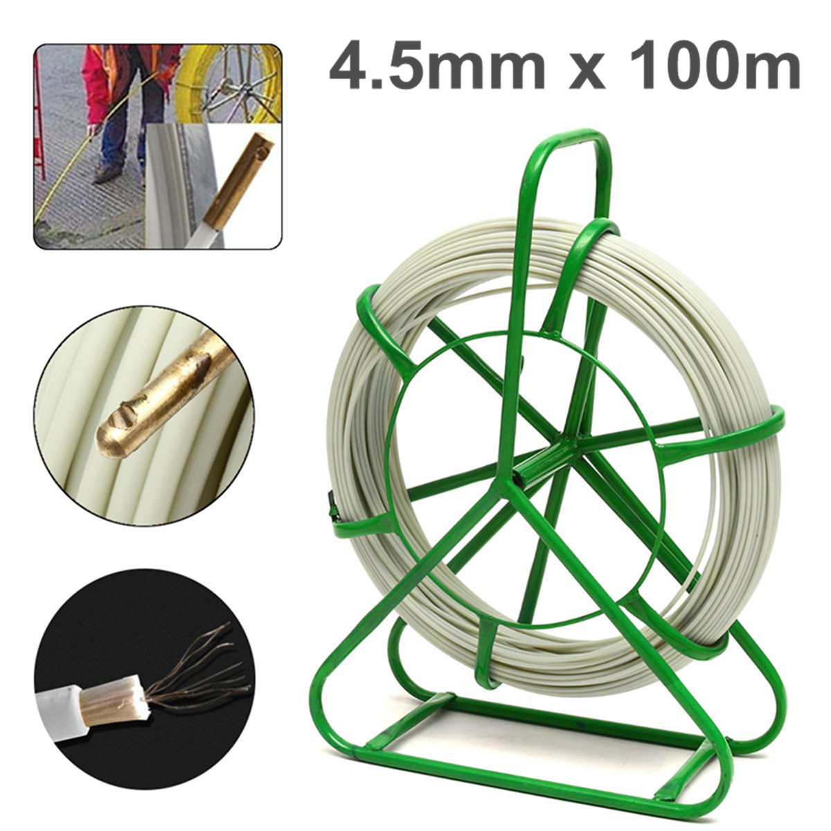 4.5mm*100m Fiberglass Cable Rodder Duct Electric Tape Running Puller Lead Rodder Electrical Equipment Wiring Accessories4.5mm*100m Fiberglass Cable Rodder Duct Electric Tape Running Puller Lead Rodder Electrical Equipment Wiring Accessories