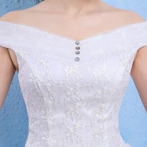 Image 2 - 크리스탈 드레스 웨딩 긴 2020 레이스 오프 어깨 아가씨 민소매 레이스 저렴한 웨딩 드레스 우아한 Vestidos 드 Noivas