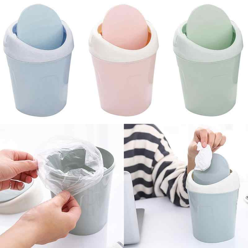 Detail Feedback Questions About Creative Small Trash Can With Lid Living Room Desktop Waste Paper Bin Basket Home Table Coffee Mini Garbage