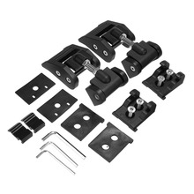 Aluminium Alloy Engine Hood Latch Lock Catches Kits For Jeep Wrangler JK Unlimited Rubicon 2007-2017 игрушка bruder внедорожник jeep wrangler unlimited rubicon полиция с фигуркой 02 526