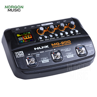 NUX MG 200 Guitar Modeling Processor Multi effects Pedal Processor Overdrive Delay Reverb Amp Cabinets Tuner 55 Effect Models