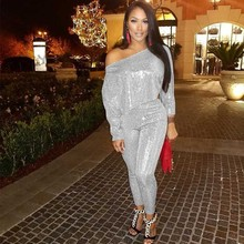 MUXU fashion glitter silver sequin 2 piece set women suit long sleeve sparkly womens clothing two top and pants spring