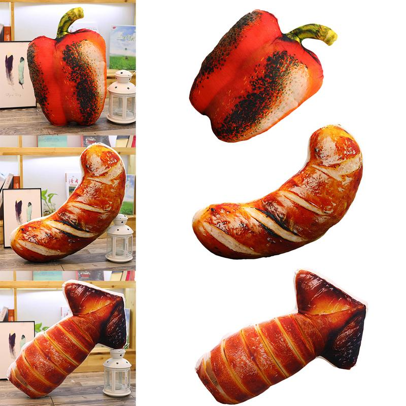 Simulation BBQ Food Pillows Creative Grilled Chicken Legs Sausage Plush Toys Cushions 3 Styles Funny Home Decorative Pillows