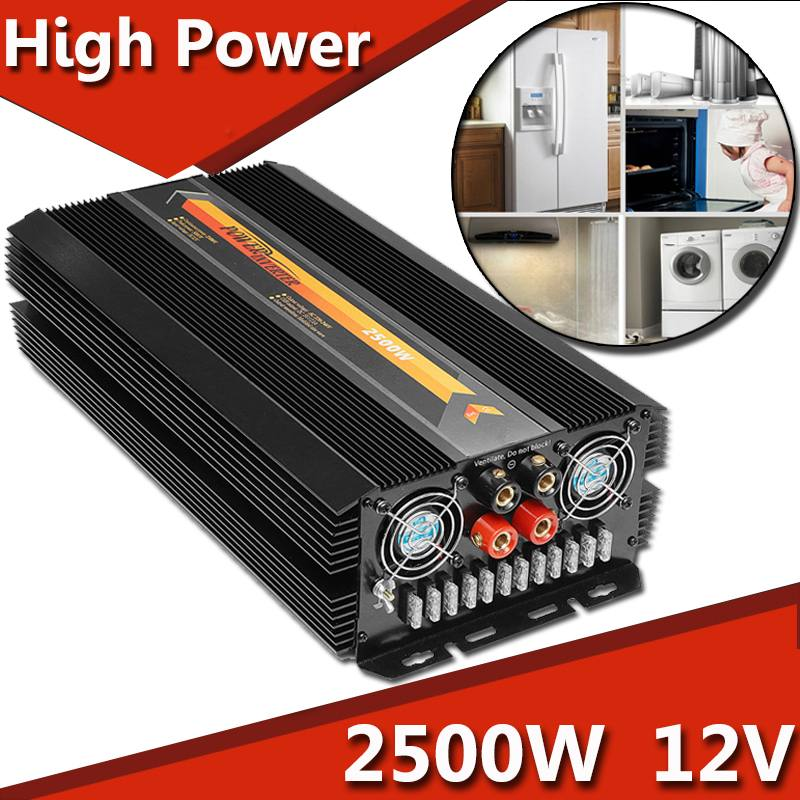 New High Quality Solar Power Inverter 2500W Max 5000W 12V DC To 220V AC Modified Sine Wave Converter Power Supplies