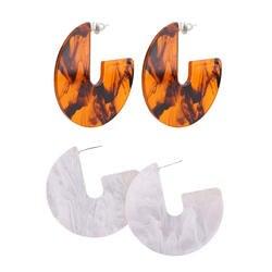 2 пары сережек модные декоративные темперамент геометрический Тип ушные капли аксессуары и украшения для дам Для женщин девочек