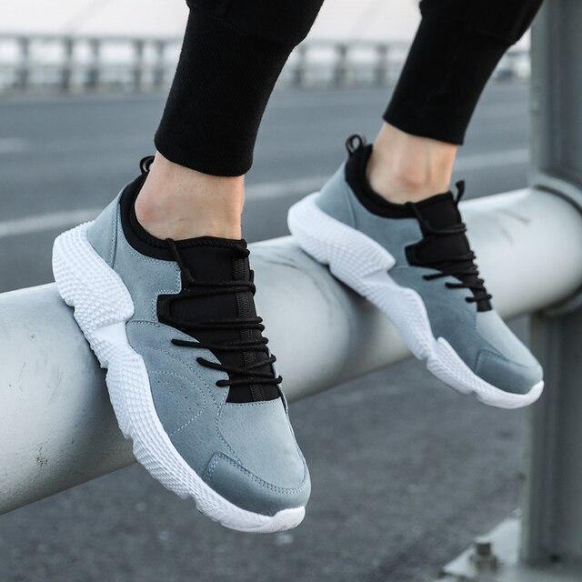 Для мужчин Акула спортивная обувь свинья кожаные кроссовки для человека легкие тканевые спортивные мужские спортивные Бег zapatillas hombre