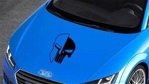 Image 3 - 1 ピース黒 60 × 38 センチメートルパニッシャー skull ビニール車の自動車ドアフード車のステッカー