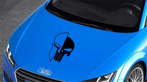 Image 3 - 1 Piece Black 60 x 38CM Punisher Skull Vinyl  Decals Car Auto Door Hood Car Sticker