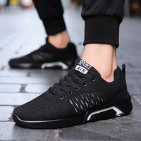 New Black Men Summer Running Shoes Outdoor Light Breathable Jogging Sneakers Traveling Walking Sport Shoes Men Krasovki 2019