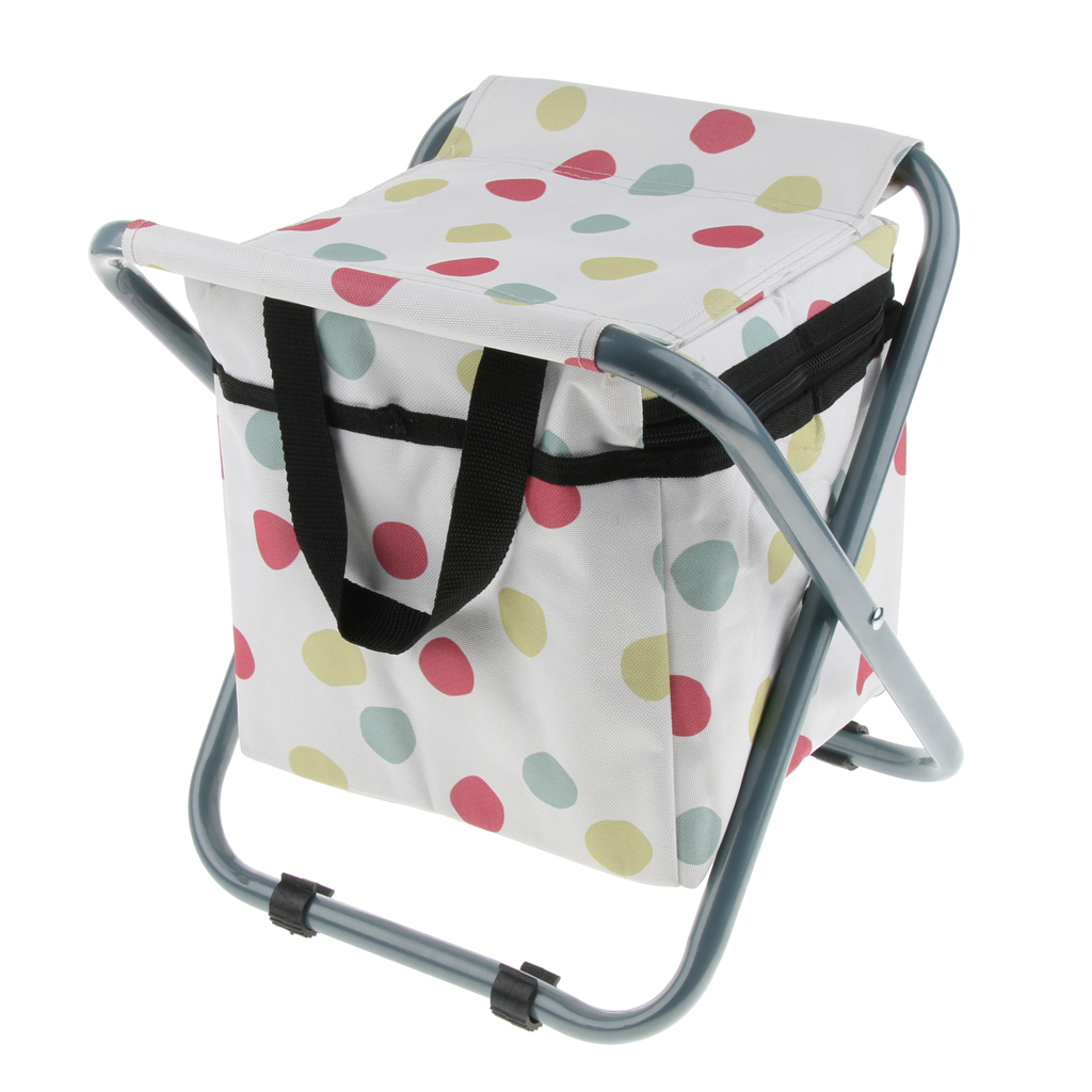 Folding Camping Stool With Storage Portable Amp Lightweight