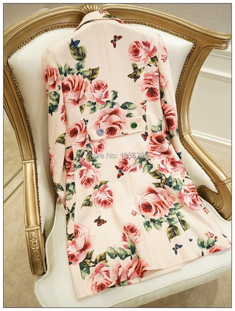 Breasted Haut Multi Gamme Élégant Outwear Manteau De Date 2019 Boutons yidora Trench Femmes Avec Différents Imprimer Rose Double Tranchée AYYBHwqr