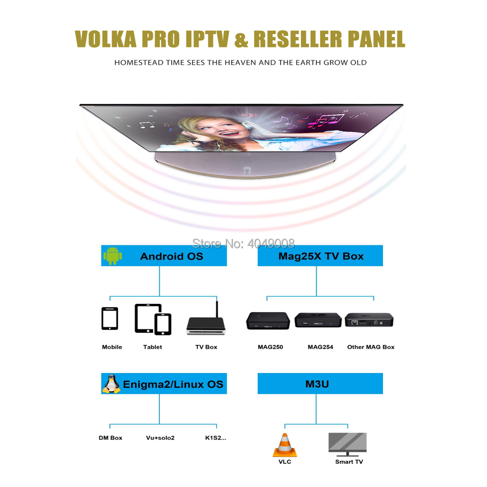 Android tv box French Arabic iptv subscription VOLKA pro H265 Mag enigma2  stalker iptv code free test