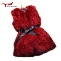 Real Natural Fur Coats Thick Coat Women Vest Autumn Winter Fox Fur Vest Fashion Slim Long Vest Womens Tops And Blouses Parka D#2