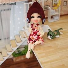 Fairyland Realpuki 1/13 Sira BJD 인형 긴 귀 미소 재미 소녀를위한 독특한 기발한 고품질 장난감 최고의 선물 FL Fairyland