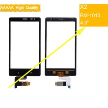 10Pcs/lot For Nokia X2 X 2 Dual SIM RM-1013 X2DS Touch Screen Touch Panel Sensor Digitizer Front Glass Outer Lens Touchscreen кабель hdmi chord hdmi v2 active resolution 3 m