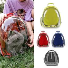 Breathable Pet Carrier Bag Clear Cat Backpack Transparent Carrying Dog Bag Outdoor Travel Portable Space Capsule
