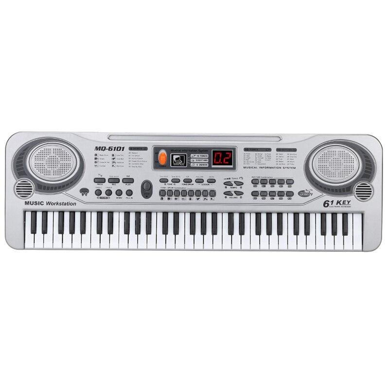 61-Key Keyboard Piano Piano Led Instrument Keyboard 21-Inch Music Education Double-Row Electronic Piano Children Beginner Elec