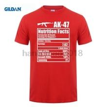 GILDAN 2018 AK-47 Nutrition Facts Funny Gun T-Shirt