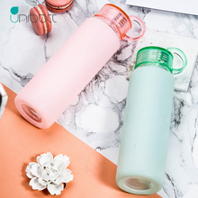 Unibott Glass Sports Water Bottles With Protective Bag 550ml Fruit Outdoor Bike Cup Shaker Portable Motion Kids Drink Bpa Free