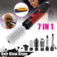 Professional 7 in 1 Electric Hair Dryer Hot Air Brush Comb Styling Curling Machine Multifunctional Styling Tools Set Hairdryer