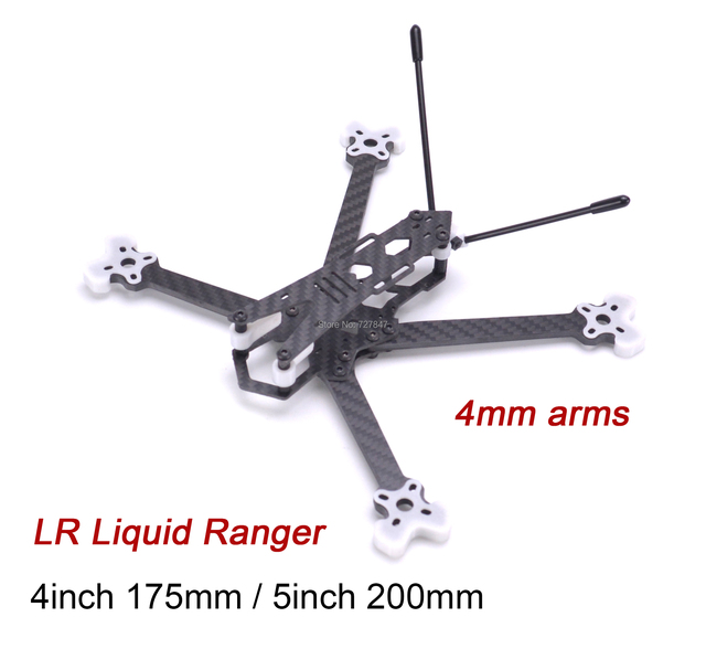 LR Liquid Ranger 4 inch 175mm / 5 inch 200mm with 4MM Arms TRU printing quadcopter frame drone kit for PUDA Chameleon Rooster230