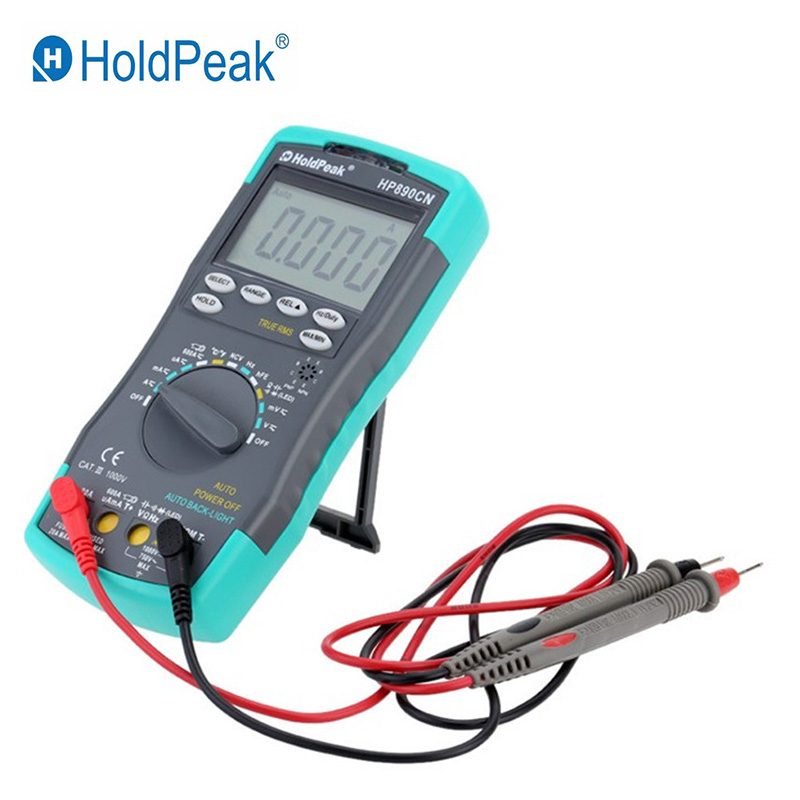 Holdpeak HP 890CN Digital Multimeter AC/DC Ammeter Voltmeter Ohm Portable Meter Resistance Frequency Temperature Cycle Test