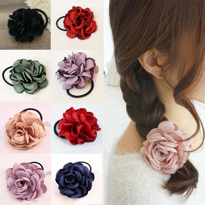 2019 Hot Fashion 1Pc Ponytail Holder Cute Fabric Elastic Hair Bands Hair Rope For Female Ties Girls Hair Accessories