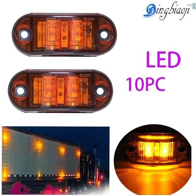 10 pc 24V 12V LED amber side lights for truck side Marker light lamp 12V white red for Trailers
