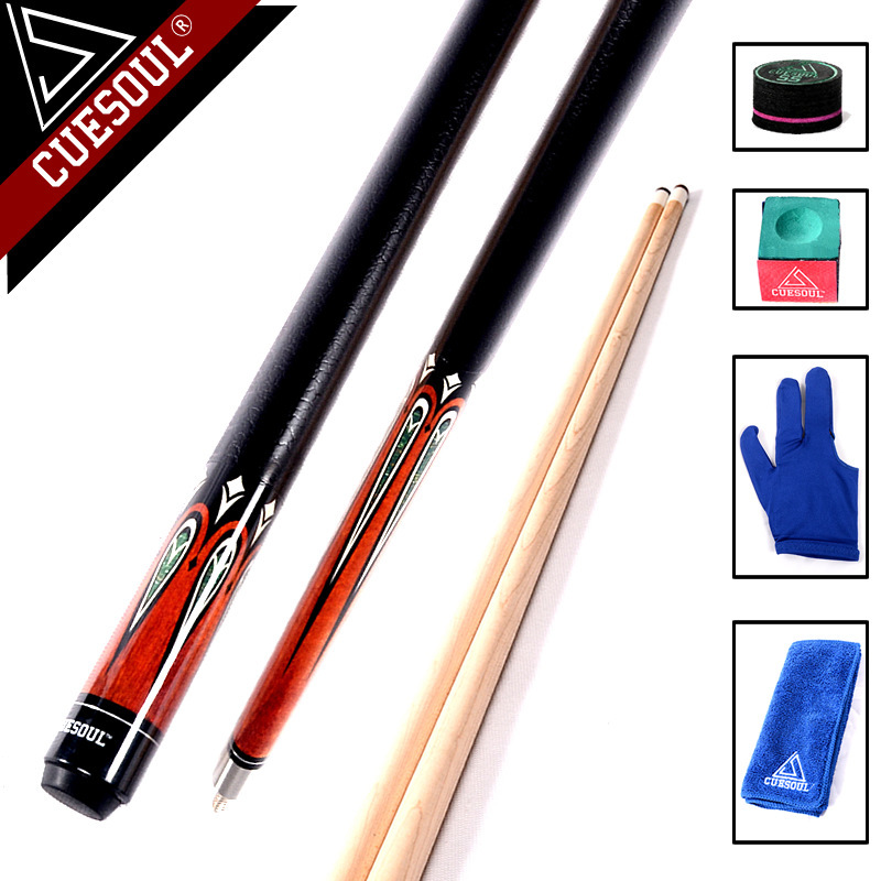 CUESOUL High Quality Maple Billiard Cues Shaft 13mm Tips 1/2 Split Pool Billiards Cue Stick 58 Inch 2016 high quality billiard pool cue 13mm tips 1 2 split pool cues stick china bk2 bks type