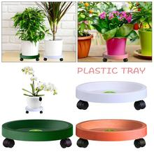 Mobile Flower Pot Tray Home Plastic Potted Bottom Tray Flower Pot Water Tray Home Gardening Supplies