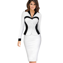Women Spring pencil knee-Length Dress Long Sleeve Patchwork turn-Down collar Bodycon Dress Casual Wear Work Office lady plus size white ol office work dress women turn down collar long sleeve mini dress club wear for ladies casual bodycon dresses