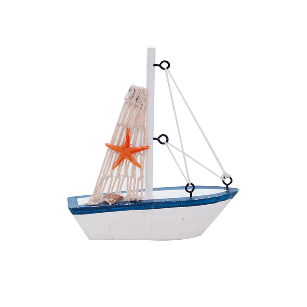 Us 2 52 35 Off 1pc Wood Sailboat Decoration Model Creative Mediterranean Style Wooden Craft Car Ornament Table Stuff Home Decor In Diy