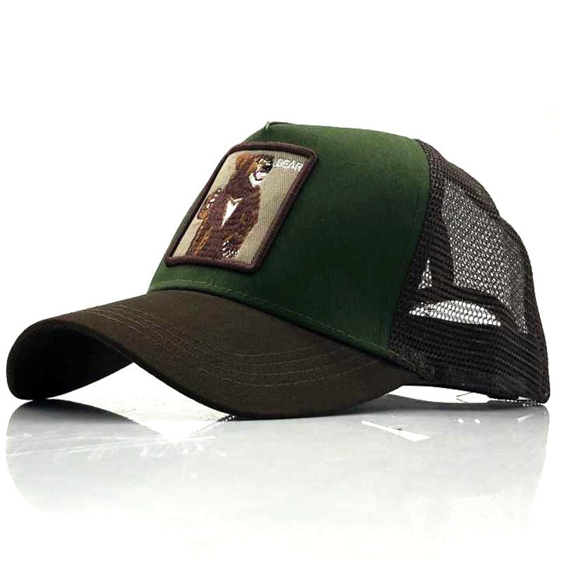 Snapback Baseball Cap Men Women Animal Farm Trucker Cap Hat Summer Breathable Mesh Dad Hat Hip Hop Men Caps Hats Bone  36 Color