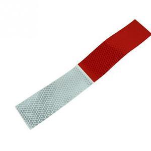 Image 4 - 10PCS רכב רעיוני מדבקות אזהרה רעיוני רצועת משאית אספקה אוטומטית לילה נהיגה בטיחות מאובטח אדום לבן מדבקת 5*30cm
