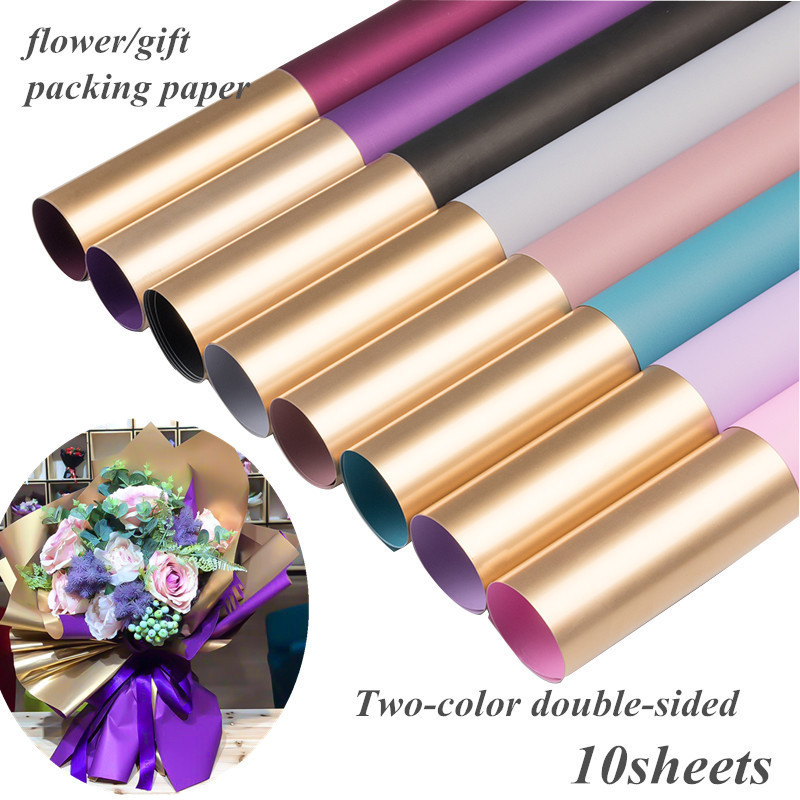 VIDAN Flower Wrapping Paper Waterproof Floral Gift Wrap for Flower Bouqets and Arrangements 20 X 49ft Korean Style Matt Craft Paper White