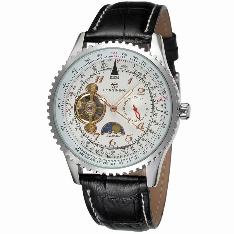 Forsining Classic Arabic Number White Dial Calendar Genuine Leather Mens Watch Top Brand Luxury Automatic Watch ClockForsining Classic Arabic Number White Dial Calendar Genuine Leather Mens Watch Top Brand Luxury Automatic Watch Clock