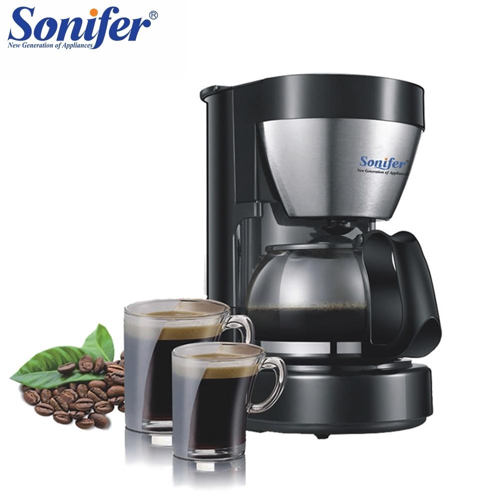 0.65L Électrique Goutte À Goutte Cafetière ménage machine à café 6 tasse thé café pot 220 v Sonifer