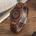 Часы женские  с чистым циферблатом  в стиле ретро  из орехового дерева