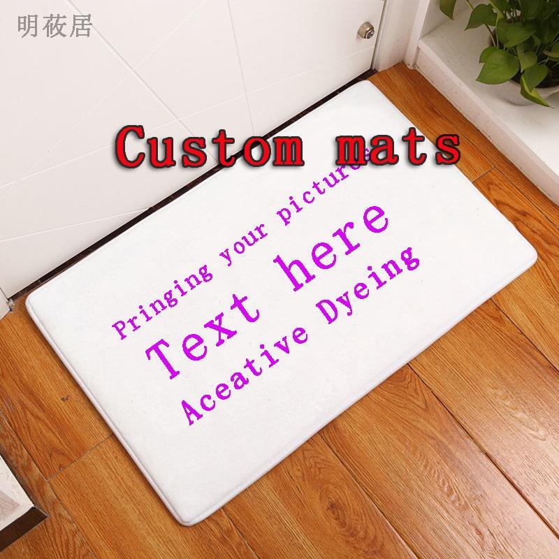 40x60 см коврик на заказ Противоскользящий ковер напечатанный на фото вашего дизайна, фланелевый пол на заказ ковер для ванной двери гостиной