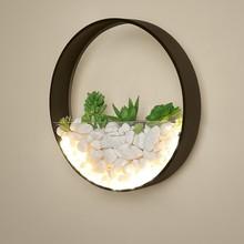 Новая светодиодный ная светодиодная настенная лампа, украшение для спальни, прикроватная тумбочка, круглые настенные Искусственные цветы с камнем