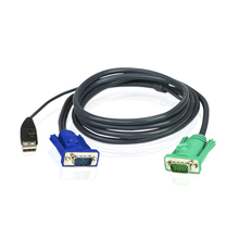 ATEN Original KVM Switcher Cable 1.2m 1.8m 3m 5m Length USB VGA KVM extender Data connector USB KVM Cable with 3 in 1 SPHD