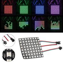 Voltímetro digital WS2812B RGB 8*8 píxeles Digital Flexible Dot direccionable individualmente pantalla LED(China)