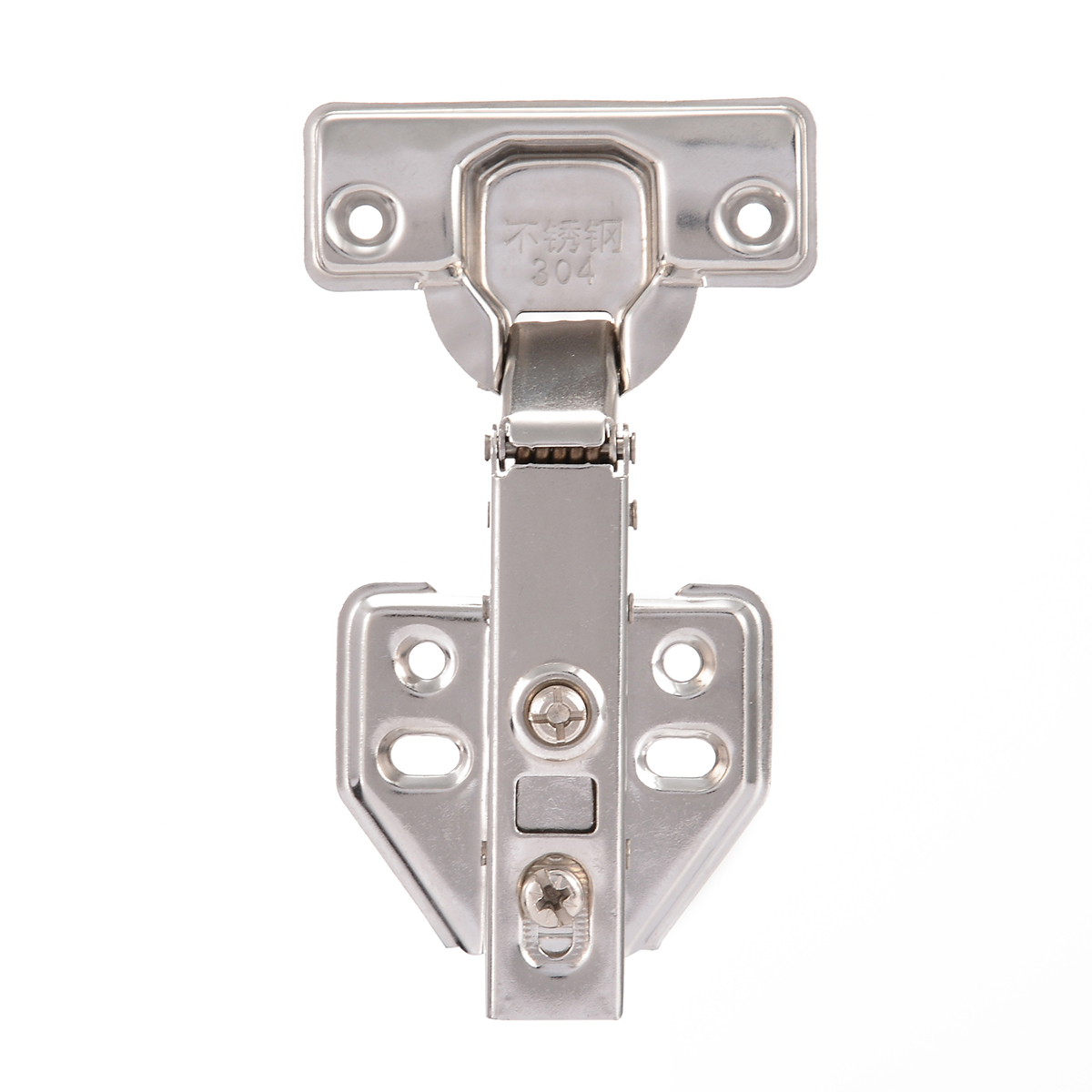 Safety Stainless Steel Door Hydraulic Hinges Damper Buffer Soft Close For Cabinet Cupboard Furniture Hardware