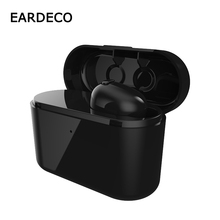 EARDECO Charge Box Wireless Earphones Mini Wireless Bluetooth Earphone Headset Bass Wireless Earbuds Earpiece with Mic for phone bluedio t talking wireless earpiece bluetooth earphones earbuds headset with mic for cellphone