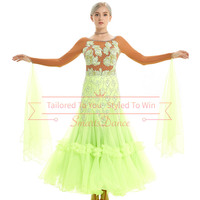 foxtrot dance dresses foxtrot dance gown custom made free shipping competition ballroom dress dance dress ballroom waltz dress