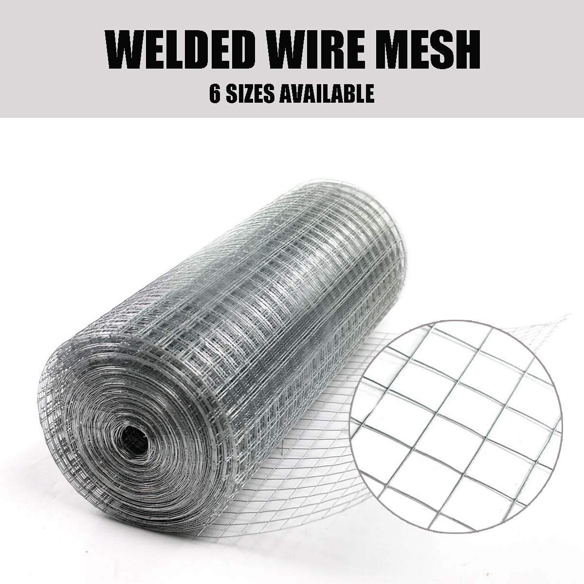Welded Galvanised Wire Mesh Fence 1x1 Inch Aviary Rabbit Hutch Chicken Coop PetWelded Galvanised Wire Mesh Fence 1x1 Inch Aviary Rabbit Hutch Chicken Coop Pet