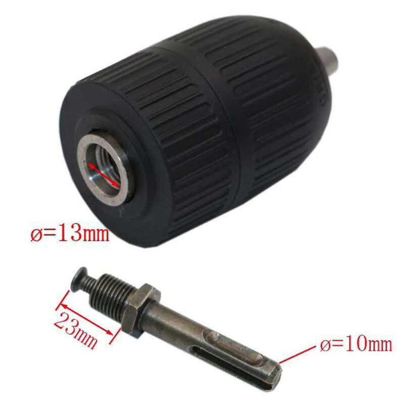2-13mm Self Locking Keyless Drill Chuck Converter 1/2-20UNF Thread + SDS Adaptor Electric Three-jaw